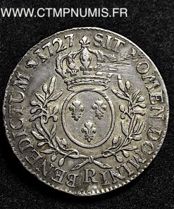 LOUIS XV ECU BRANCHES OLIVIER 1727 ORLEANS
