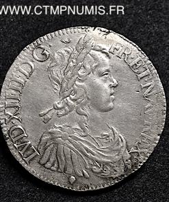 LOUIS XIV ECU MECHE LONGUE 1652 M TOULOUSE