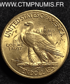 USA 10 DOLLAR OR EAGLES TETE D'INDIEN 1932