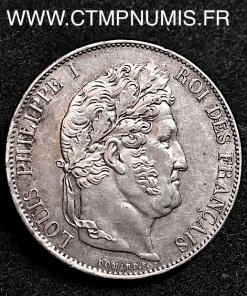 5 FRANCS ARGENT LOUIS PHILIPPE I° 1847 A PARIS