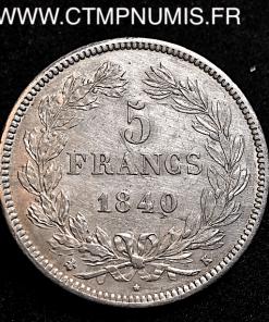 5 FRANCS LOUIS PHILIPPE I° 1840 K BORDEAUX