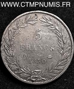 5 FRANCS LOUIS PHILIPPE SANS LE I° 1830 D LYON
