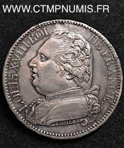 5 FRANCS LOUIS XVIII HABILLE 1814 LIMOGES
