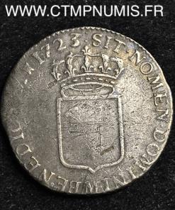 LOUIS XV 1/3 ECU DE FRANCE 1723 M TOULOUSE