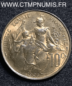 10 CENTIMES DANIEL DUPUIS 1906 SPL