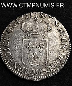 LOUIS XV 1/2 ECU DE FRANCE 1721 M TOULOUSE