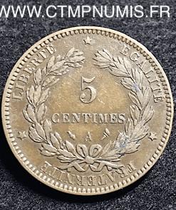 5 CENTIMES CERES 1896 A TORCHE PARIS RARE TB