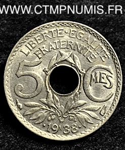 5 CENTIMES LINDAUER MAILLECHORT 1938 ETOILE