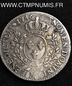 LOUIS XV 1/2 ECU AU BANDEAU 1746 M TOULOUSE