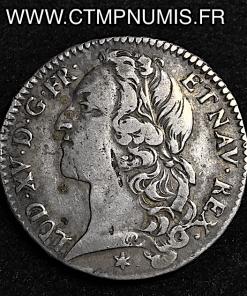 LOUIS XV 1/2 ECU AU BANDEAU 1754 M TOULOUSE