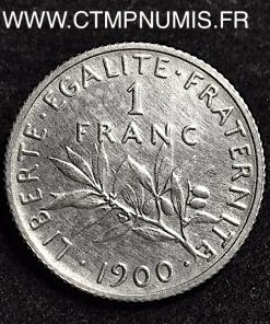 1 FRANC SEMEUSE ARGENT 1900 TTB+