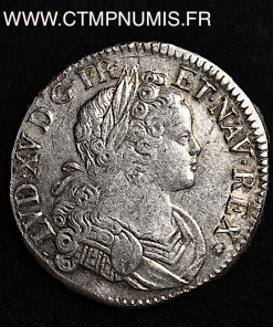 LOUIS XV ECU FRANCE NAVARRE 1718 TOULOUSE