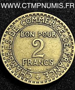 2 FRANCS DOMARD CHAMBRES COMMERCE 1927