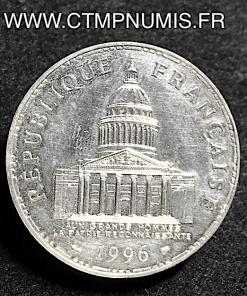 100 FRANCS ARGENT PANTHEON 1996 SUP RARE