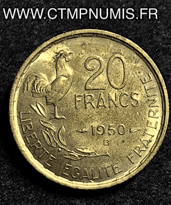 20 FRANCS GEORGES GUIRAUD 1950 B 4 FAUCILLE