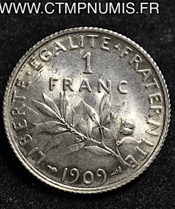 1 FRANC ARGENT SEMEUSE 1909 SPL