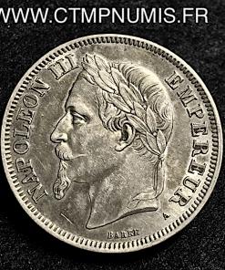 2 FRANCS NAPOLEON III TETE LAUREE 1870 PARIS