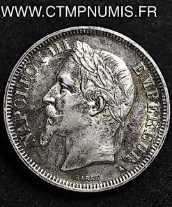 2 FRANCS NAPOLEON III TETE LAUREE 1869 PARIS