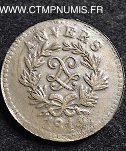 5 CENTIMES SIEGE D'ANVERS LOUIS XVIII 1814