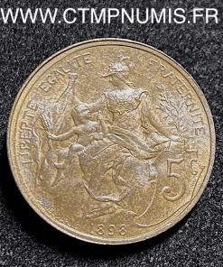 5 CENTIMES DANIEL DUPUIS 1898 SUP+