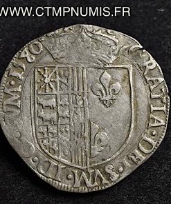 BEARN FRANC ARGENT HENRI 1580 SAINT PALAIS