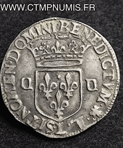 LOUIS XIV 1/4 ECU ARGENT 1649 L BAYONNE TTB