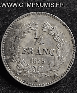 1/4 DE FRANC LOUIS PHILIPPE I° 1835 A PARIS TTB+