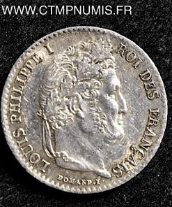1/4 FRANC ARGENT LOUIS PHILIPPE I° 1840 A PARIS