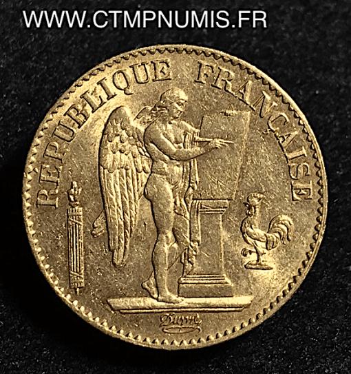 20 FRANCS OR GENIE III° REPUBLIQUE 1892 A PARIS