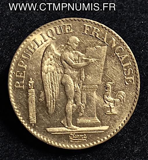 20 FRANCS OR GENIE III° REPUBLIQUE 1894 A PARIS