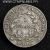 1 FRANC NAPOLEON I° REPUBLIQUE 1806 PARIS