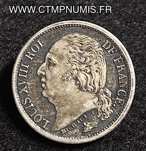 1/2 FRANC ARGENT LOUIS XVIII 1821 A PARIS SUP