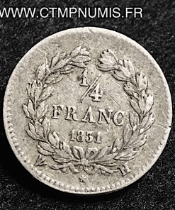 1/4 FRANC LOUIS PHILIPPE 1831 H LA ROCHELLE