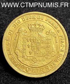 ITALIE PARME 40 LIRE OR MARIE LOUISE 1815 TTB