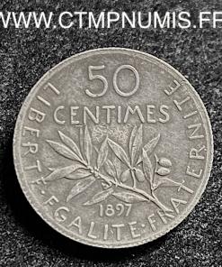 50 CENTIMES ARGENT SEMEUSE 1897