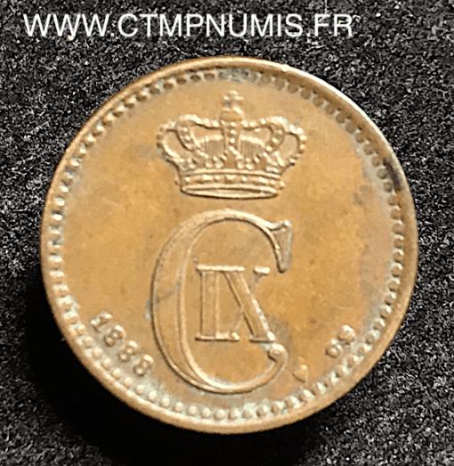 DANEMARK 1 ORE 1888 TTB+