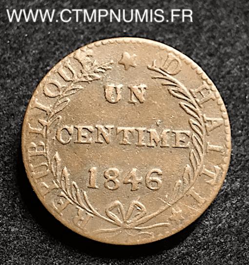 HAITI REPUBLIQUE 1 CENTIME 1846 TTB