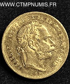 HONGRIE 20 FRANCS 8 FORINT OR 1872