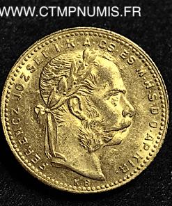 HONGRIE 20 FRANCS 8 FORINT OR 1880