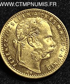 HONGRIE 20 FRANCS 8 FORINT OR 1888