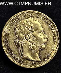 AUTRICHE 20 FRANCS 8 FLORIN OR 1878