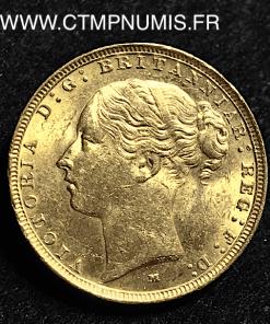 AUSTRALIE 1 SOUVERAIN OR 1883 M MELBOURNE