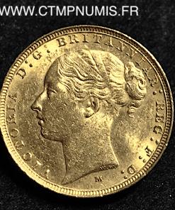 AUSTRALIE SOUVERAIN OR 1884 MELBOURNE