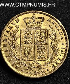 GRANDE BRETAGNE 1 SOUVERAIN OR 1854