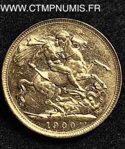 GRANDE BRETAGNE 1 SOUVERAIN VICTORIA 1900
