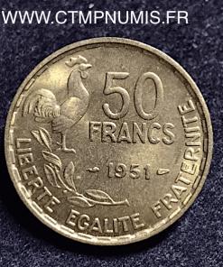 50 FRANCS G. GUIRAUD 1951 SUP+