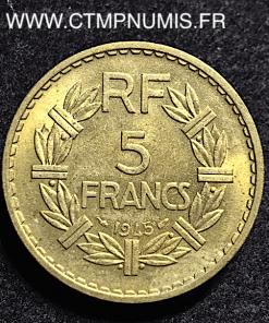 5 FRANCS LAVRILLIER BRONZE ALUMINIUM 1945