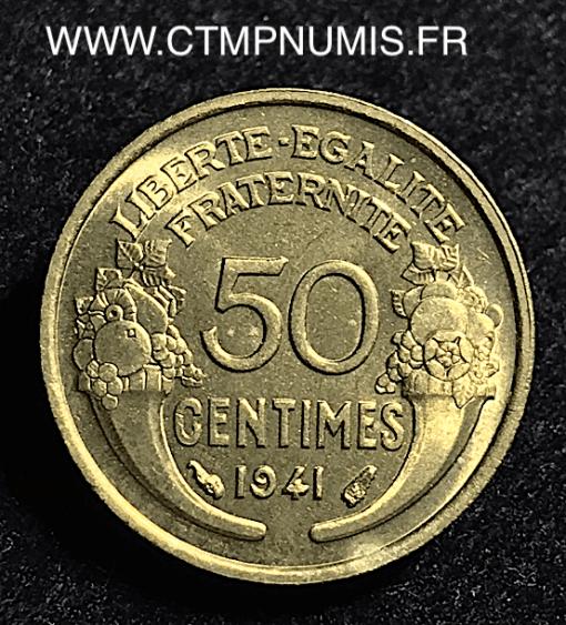 50 CENTIMES MORLON BRONZE ALU. 1941 SPL