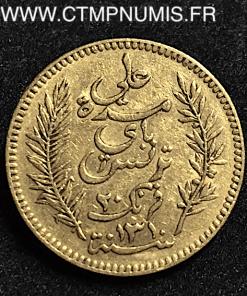 TUNISIE 20 FRANCS OR 1893 A PARIS