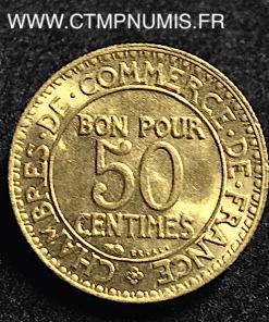 50 CENTIMES CHAMBRES DE COMMERCE 1922